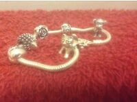 Silver bracelet with charms 925 silver £60 or nearest offer