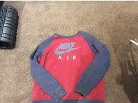 Red and Blue nike air sweatshirt age 12-13