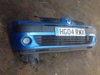 Renault Clio front bumper blue