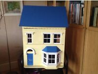 Dolls House together with some furniture and accessories.