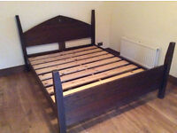 Nice solid wood king size bed frame, good condition