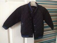 Boys black next jacket 12-18 months