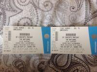 The National - 2 standing tickets- Edinburgh, Usher Hall - Wed 20th September