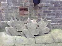 Decorative paving slabs. £5 each or £35 for the lot.