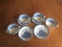 Old Britain Castles Soup Bowls And Saucers by Johnson Bros.