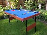 Snooker and pool table (4 foot 6 inches)