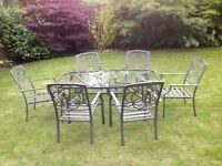M&S Garden Patio table and 6 chairs