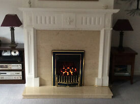 Complete Georgian Style Fireplace and Hearth with Valor Gas Fire