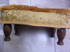 Gold brocade footstool