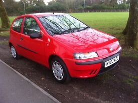 FIAT PUNTO 1.2 3 DOOR ONLY 41,000 MILES, ONE LADY OWNER FROM NEW, 12 MONTHS MOT
