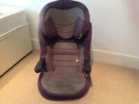 High back booster seat (no harness). approx age 4yrs+