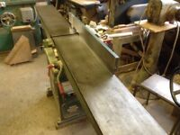 Surface planer with extra long table 3 phase