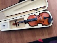 Violin like new, with case