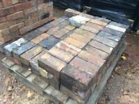 Reclaimed blue bricks, and slate