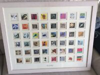 Lovely colourful framed collection of Royal Mail stamps