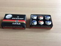 Dunlop Warwick vintage golf balls, boxed and individually wrapped.