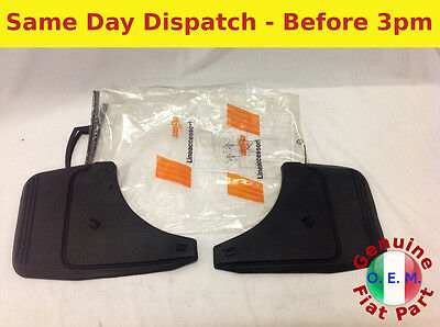 FIAT PUNTO MK2 ALL MODELS 99 06 OEM FRONT MUD FLAPS GENUINE