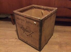 Vintage wood tea chest up cycle project
