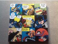 Fabulous Batman & Robin sketch canvas picture