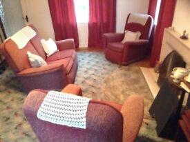 Vintage retro 3 piece suite