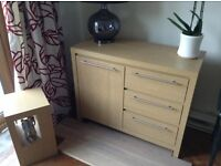 Sideboard and lamp table for sale