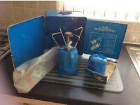 BLEUET deluxe super gaz cooker complete with 2 gaz cylinders for vw campervan/camping/picnic