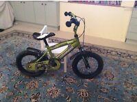"Townsend boys commander bike. Camo green age 4-6 years. 14"" wheels"