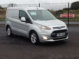 NOV 2014 FORD TRANSIT CONNECT. TOP OF THE RANGE LIMITED MODEL. 1 OWNER AND ONLY 18000 MILES.