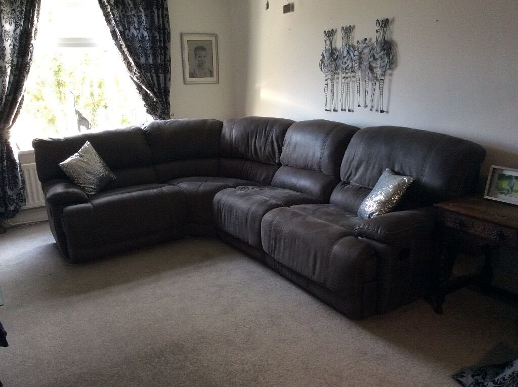 Harveys Guvnor Corner Sofa With Two Manual Recliners Also Harveys