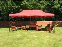 Gazebo garden party 3m x 6m or 4.5m x 6m heavy duty or suit 2 car cover
