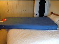 "Single mattress, very good condition. 3' X 6'3"" X 6"""