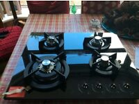 For sale New black glass gas hob £100