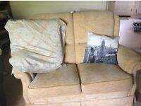 Sofa's cream/beige two sofas (2 seater each)