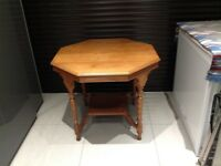 Hexagonal walnut table