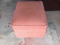 Two Two seater sofas and matching storage pouffe