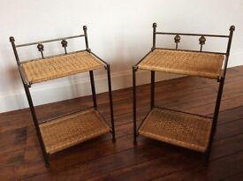 2 Folding Bedside Tables