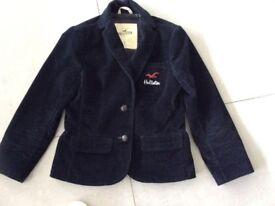 Navy corduroy Hollister Jacket