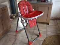 Toddlers Red High Chair
