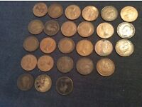 26 One Penny Coins