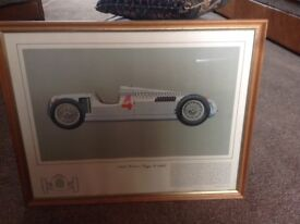 Framed drawing auto union type c 1936