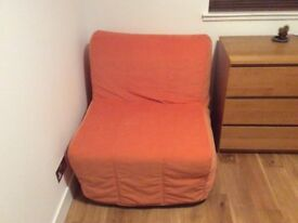 2 x ikea sofa bed complete with mattresses good condition