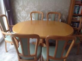 Rossmore dining table and chairs