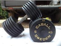 2 x 65kg Casall Sweden Cast Iron Dumbbell Weights