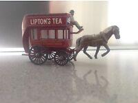 Lesney Matchbox 'B' type bus and Lesney no 12 London horse drawn bus.