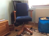 Upholstered office chair for sale - with arm rests