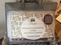 Mattress Topper KingSize. Feather and Down-unopened. £30 Collection.