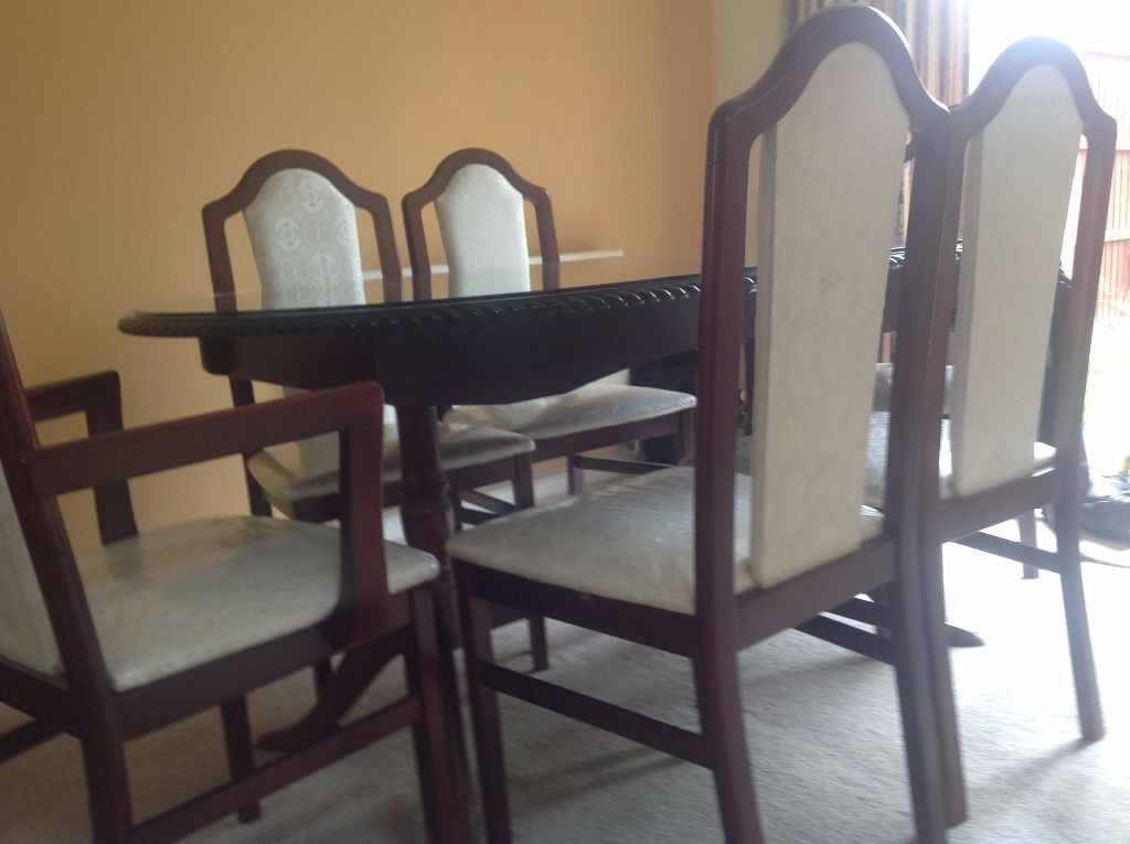 Mahogany Extendable Oval Dining Table And Chair Set Free