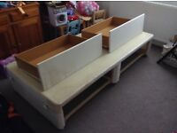 Single bed with double draws.