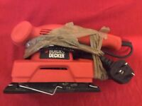 black and decker power sander for urgent sale.