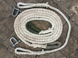 Kinetic energy tow rope and bridle kit for a 4x4 / Landrover